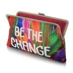 be the change clutch me bags multicolor red clutch me day handwork rise up open