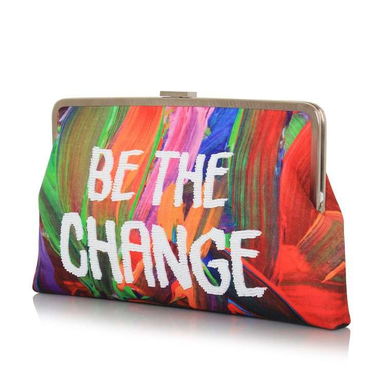 be the change clutch me bags multicolor red clutch me day handwork rise up side