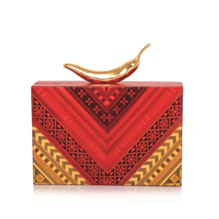 chilli red marquetry bags red day novelty love inked front