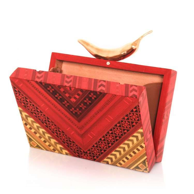chilli red marquetry bags red day novelty love inked open