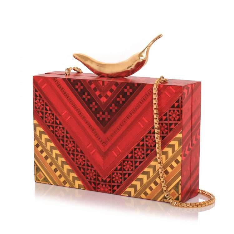 chilli red marquetry bags red day novelty love inked side