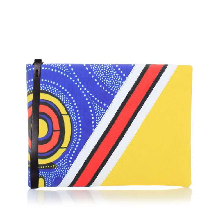 lava pouch bags blue multicolor yellow pouch day impressions afrodisiac front