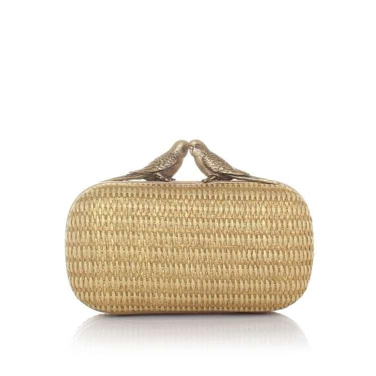 birds gold straw box bags gold neutrals box evening handwork afrodisiac bridal front