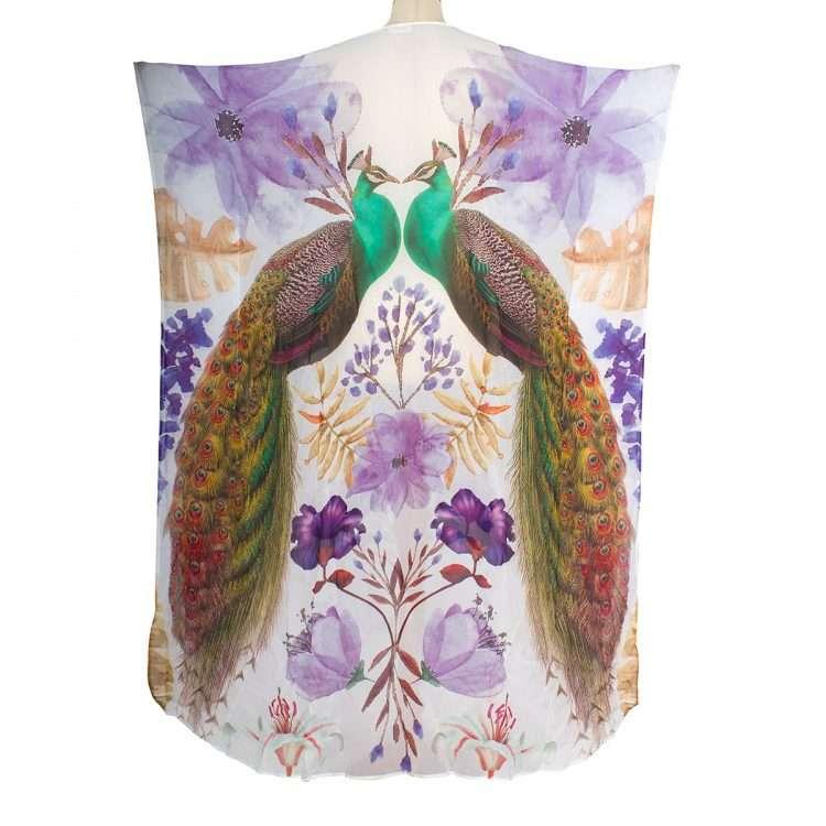 peacock purple kaftan back