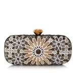 moroccan gold big box bags gold white big box evening handwork oriental front
