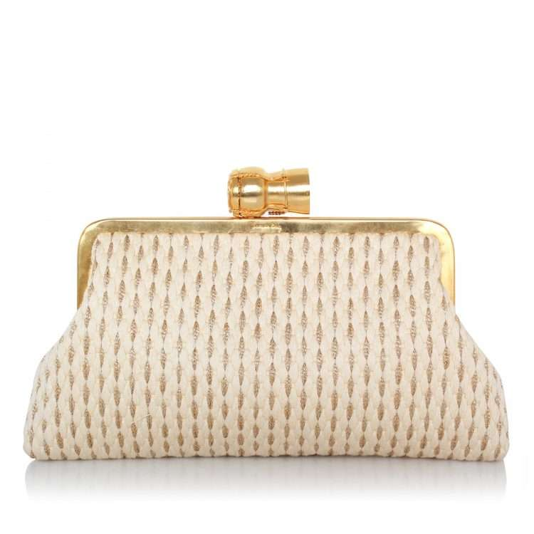 champagne gold white classic bags gold white classic evening impressions bridal front