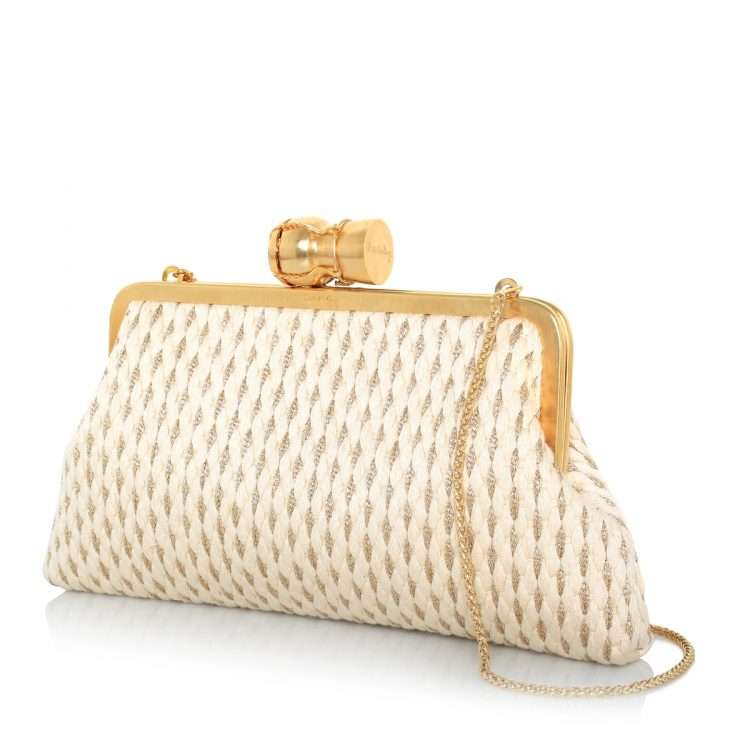 champagne gold white classic bags gold white classic evening impressions bridal side