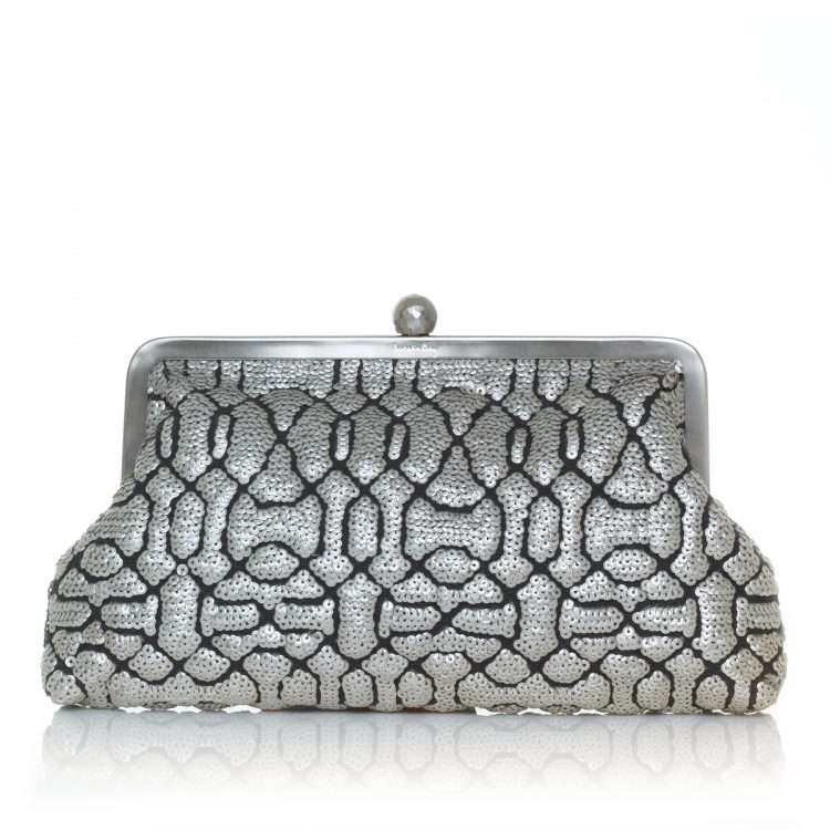 ottoman silver classic bags metallic silver classic evening handwork oriental front