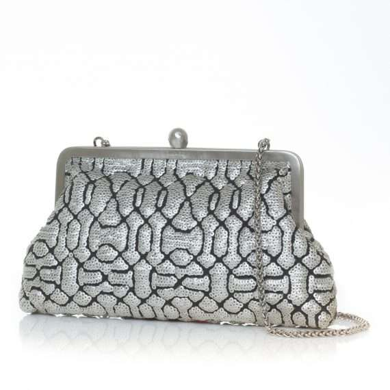 ottoman silver classic bags metallic silver classic evening handwork oriental side