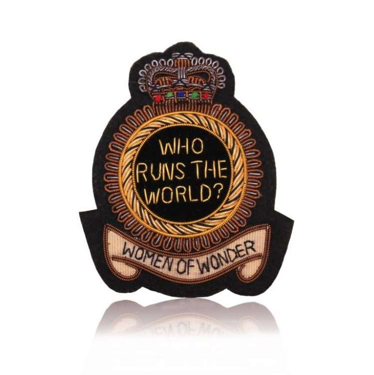 WOMEN OF WONDER BADGE FRONT BLACK
