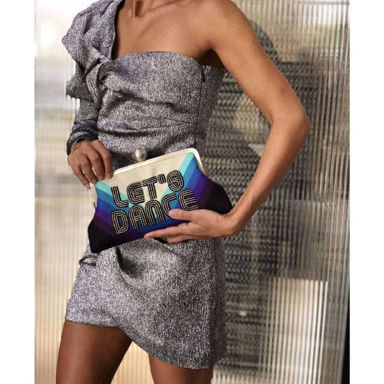 let's dance classic bags blue classic evening handwork discotheque