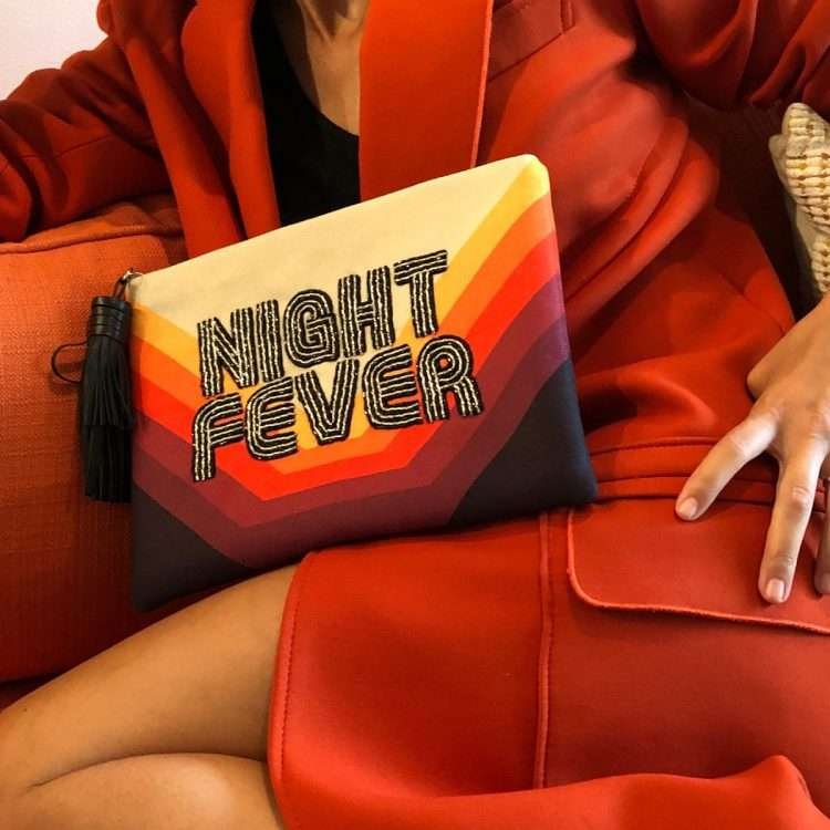 night fever pouch bags red pouch day handwork discotheque