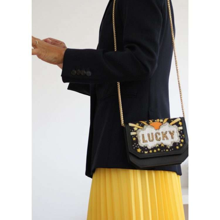 lucky belt bag bags black gold belt bag evening handwork discotheque