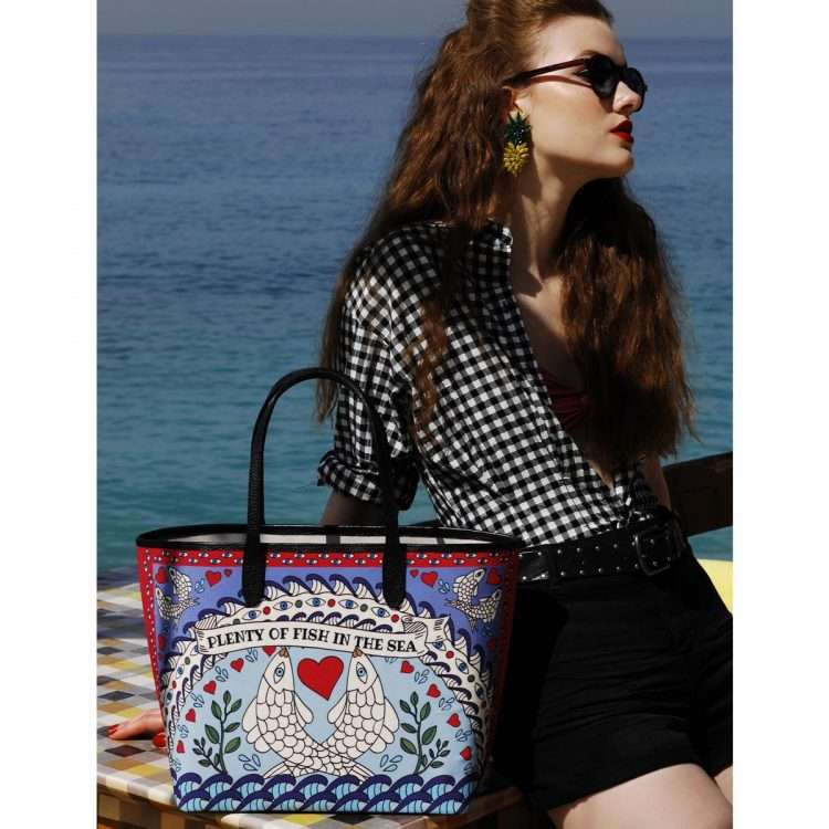 pisces caba bags blue multicolor caba day impressions love inked
