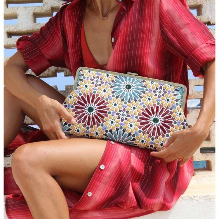 moroccan clutch me bags multicolor clutch me day handwork oriental
