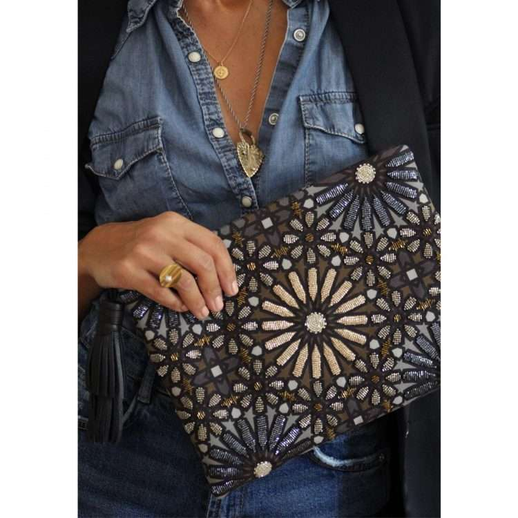moroccan metallic pouch bags metallic big box evening handwork oriental