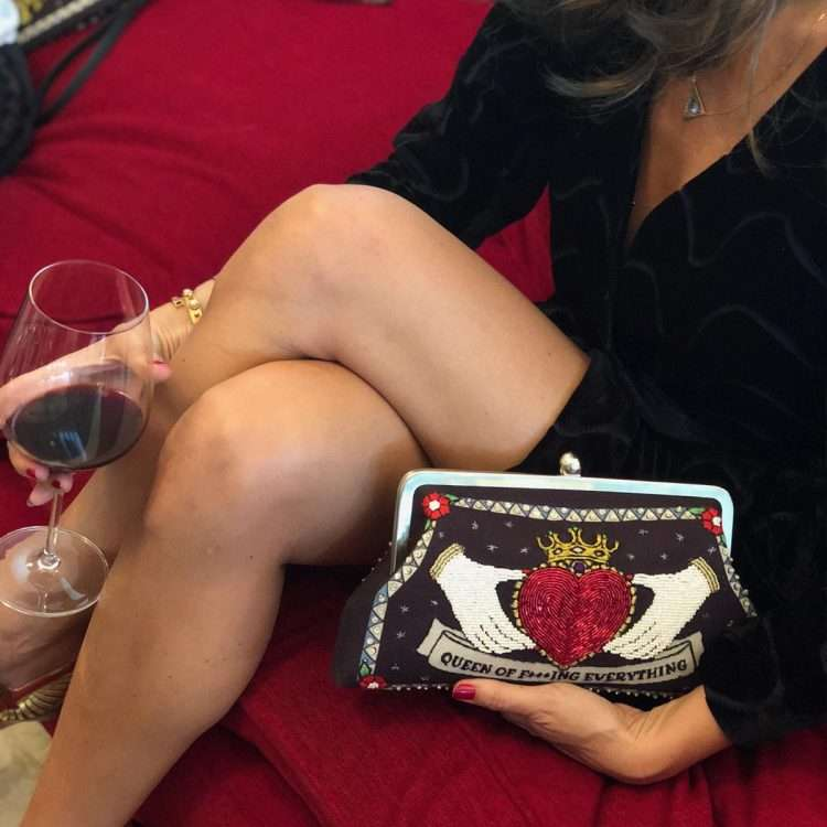 queen black classic bags black red classic day handwork love inked