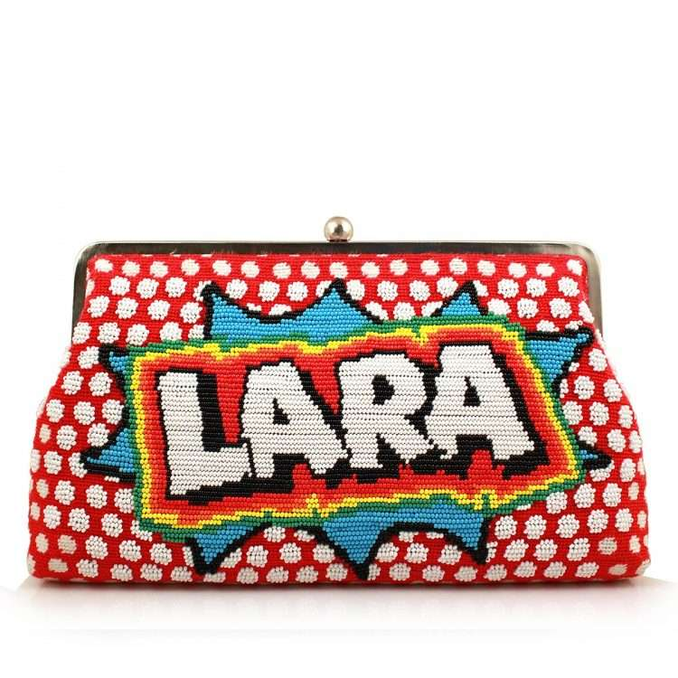 say my name pop red clutch me bags red clutch me day handwork customized