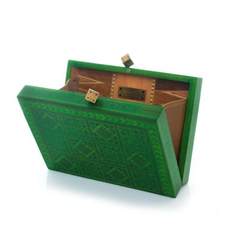 dama green bags green evening handwork oriental open