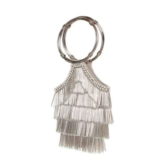 flapper silver flapper bags silver flapper evening handwork red carpet side