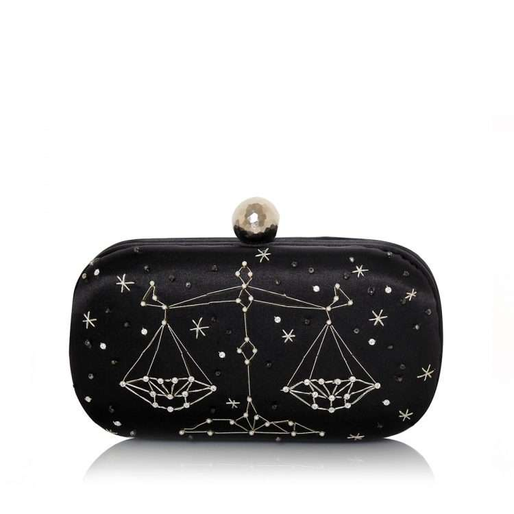 black box bags black blue pink red night evening handwork astrolove back