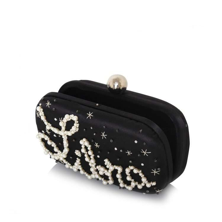 black box bags black blue pink red night evening handwork astrolove open