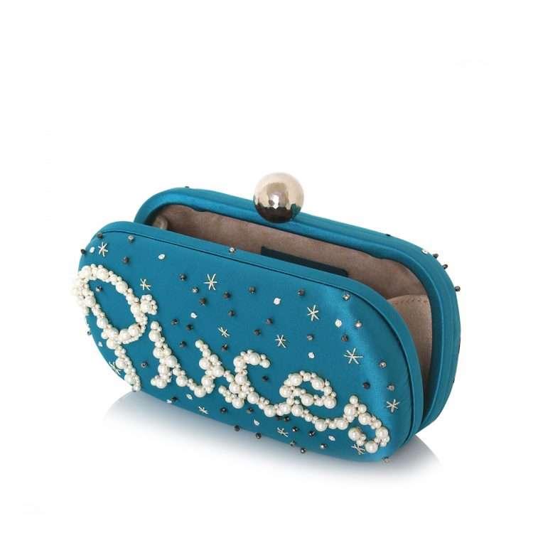 aqua box bags black blue pink red night evening handwork astrolove open