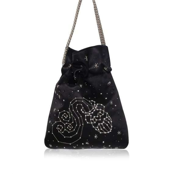 black night bags black blue pink red night evening handwork astrolove back