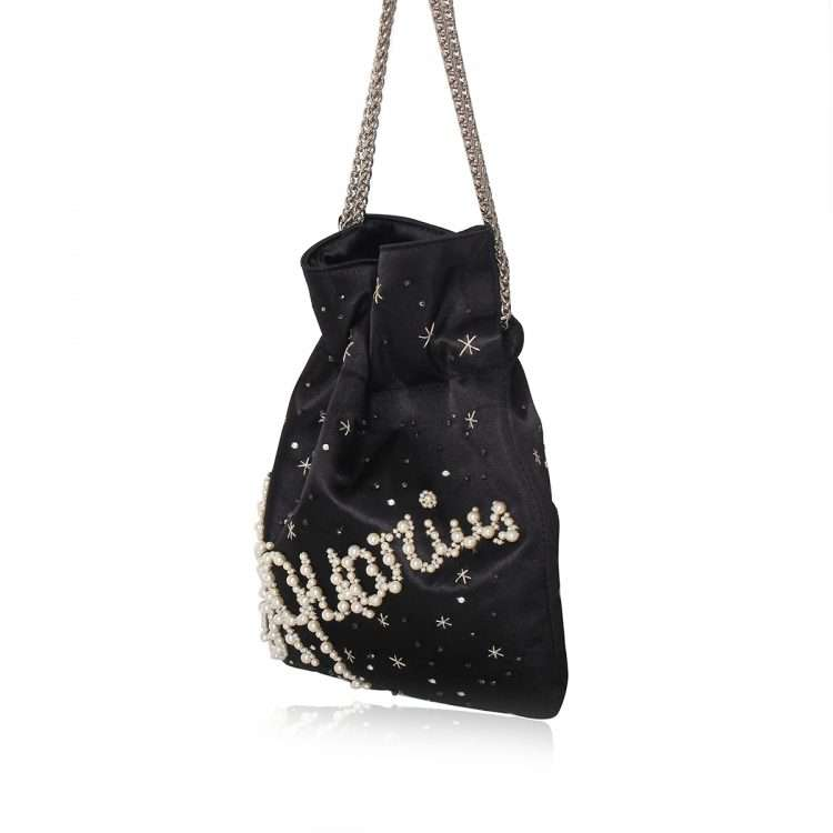 black night bags black blue pink red night evening handwork astrolove side