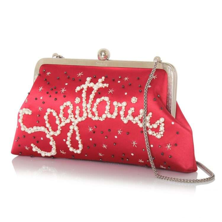 strawberry classic bags black blue pink red night evening handwork astrolove side