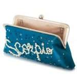 aqua classic bags black blue pink red night evening handwork astrolove open