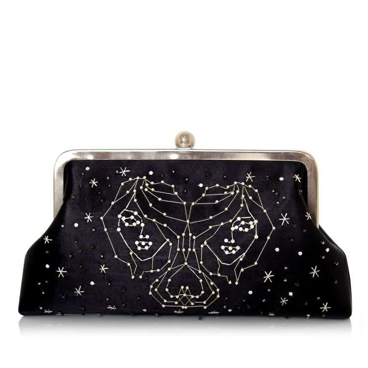 black classic bags black blue pink red night evening handwork astrolove back