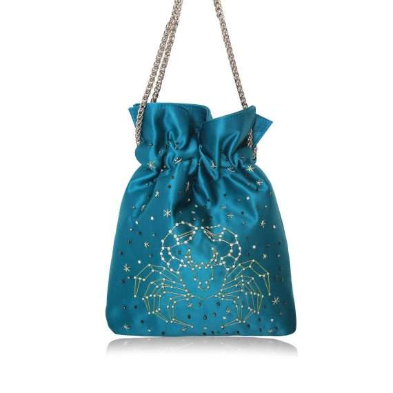 aqua night bags black blue pink red night evening handwork astrolove back