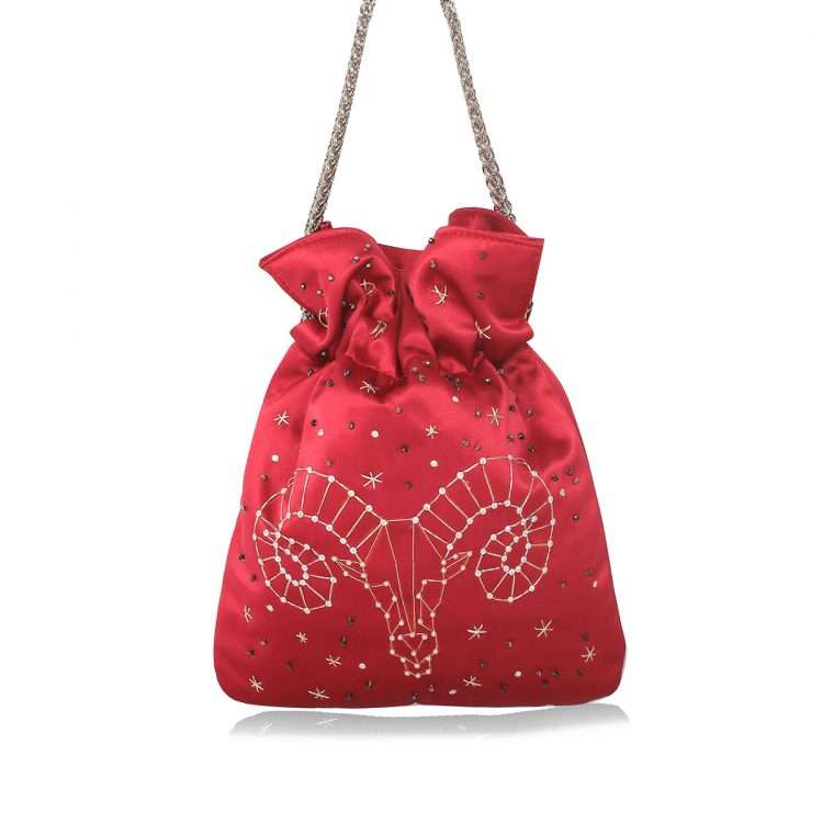 strawberry night bags black blue pink red night evening handwork astrolove back