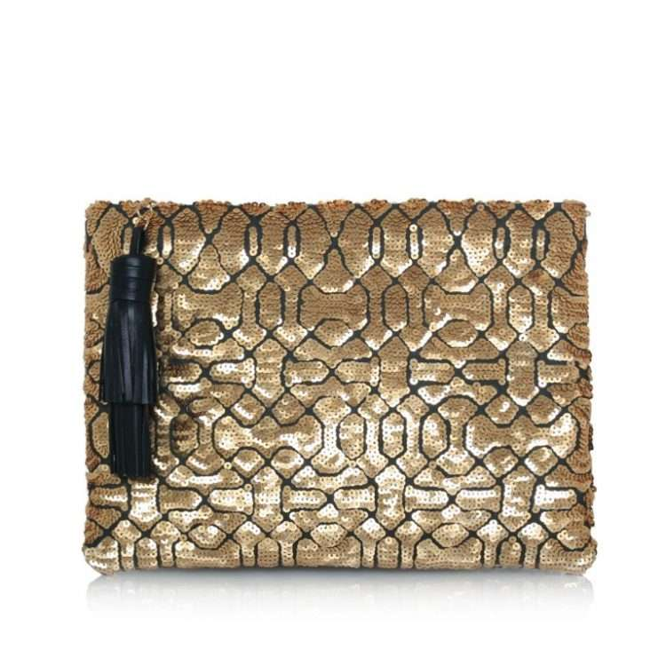 OTTOMAN GOLD POUCH FRONT