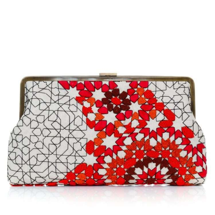 ARABESQUE DESERT CLUTCH ME FRONT