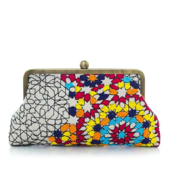 Sarahsbag-arabesque-multicolor-classic-bag-clutch-front-view