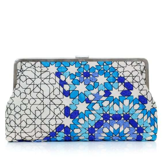 Sarahsbag-arabesque-ocean-clutch-me-bag-front-view