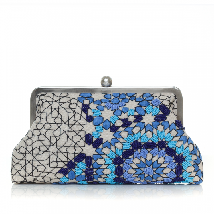 Sarahsbag-oriental-arabesque-ocean-classic-bag-clutch-front-view