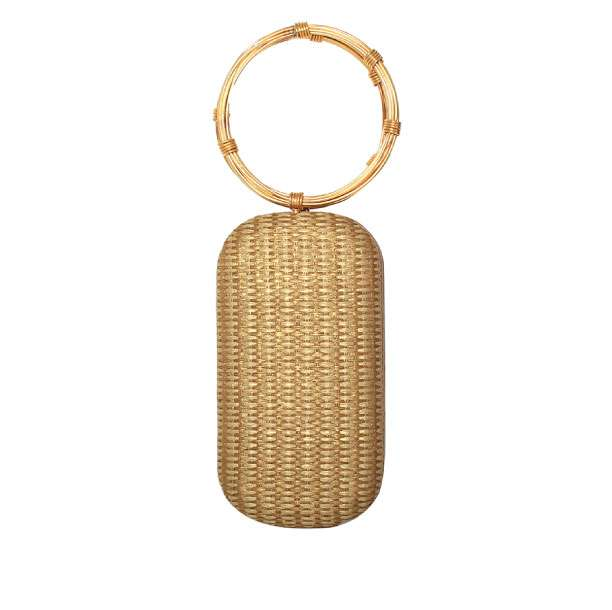 GOLD STRAW MENOTTES FRONT