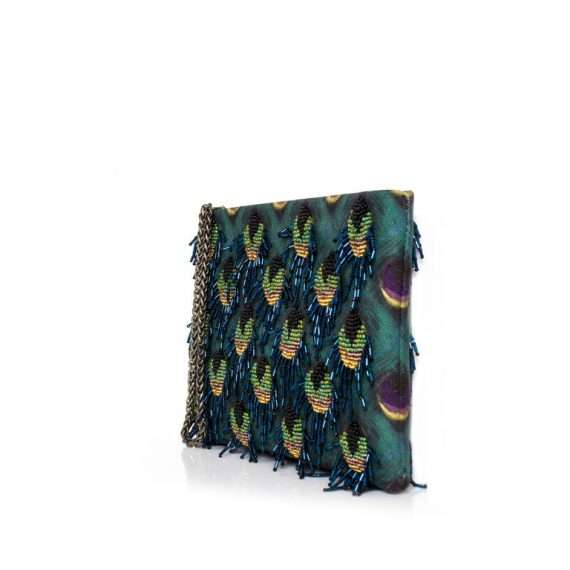 PEACOCK MINI POUCH SIDE