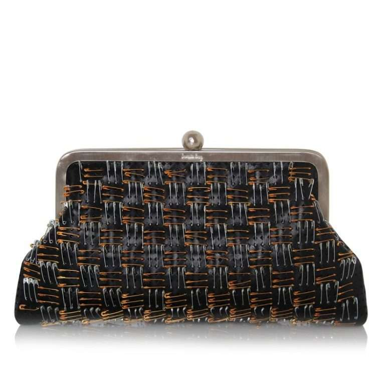PINS BLACK LEATHER CLASSIC FRONT