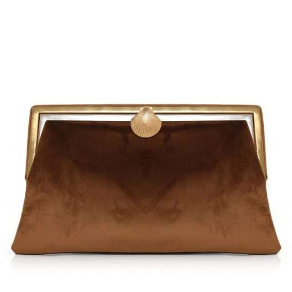 COQUILLAGE BROWN VELVET GRACE FRONT
