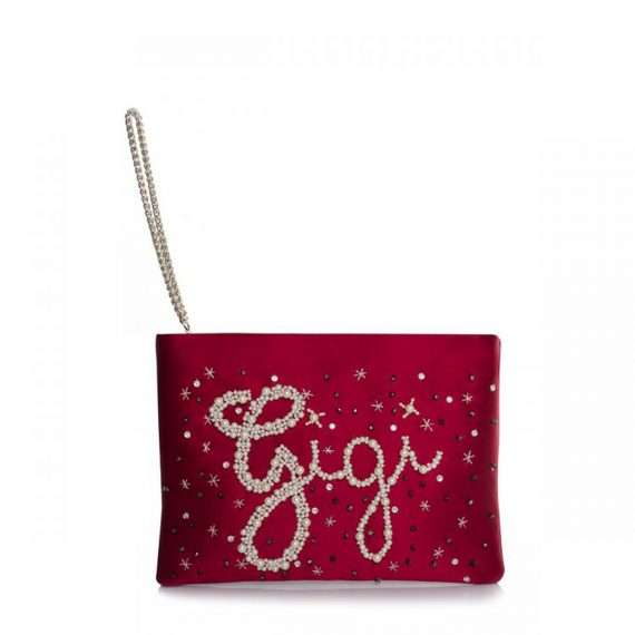 CUSTOMISED SATIN MINI POUCH SIDE CHAIN