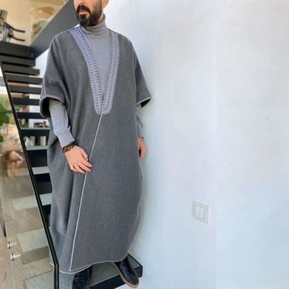 JOG ABAYA GREY ON ANTHRACITE MOVE