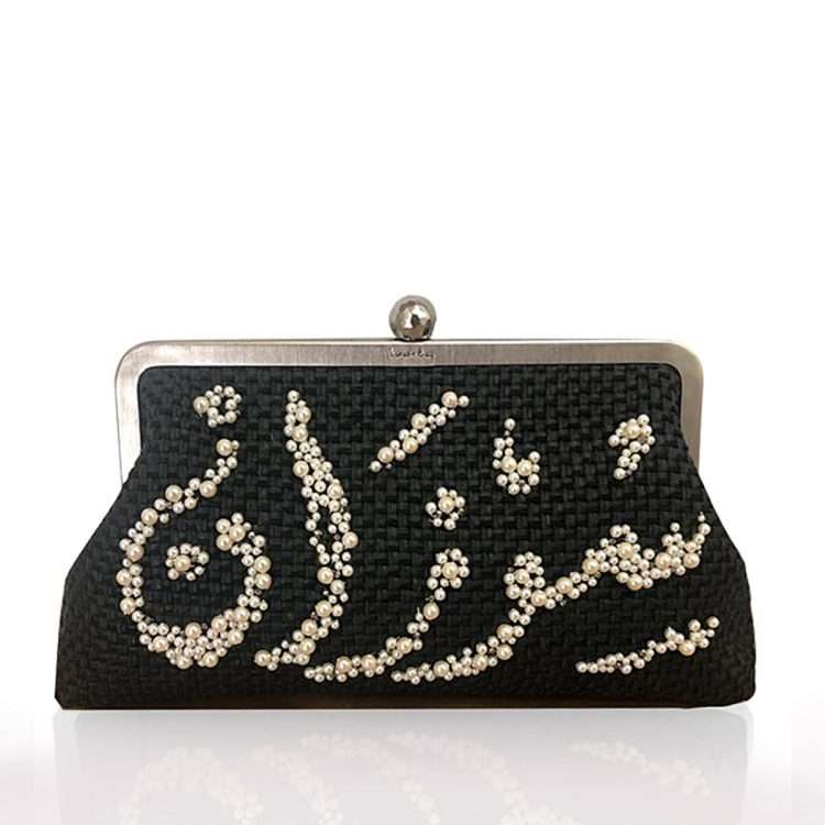 CALLIGRAPHY LOULOU BLACK STRAW CLASSIC
