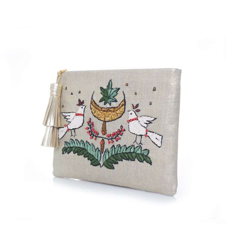 birds gold pouch side