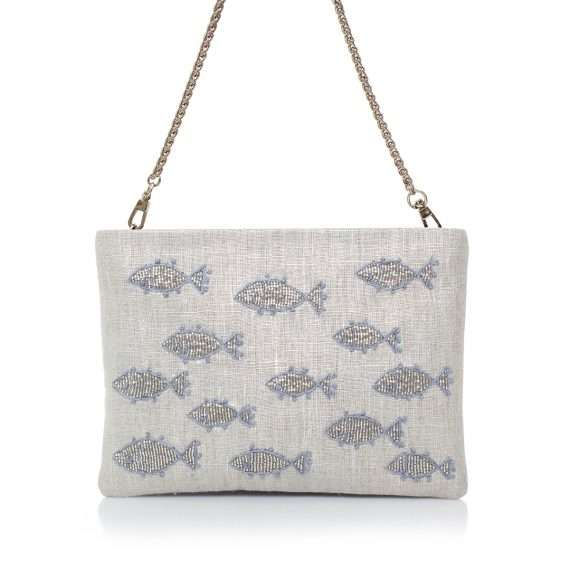 fish silver mini pouch front 2