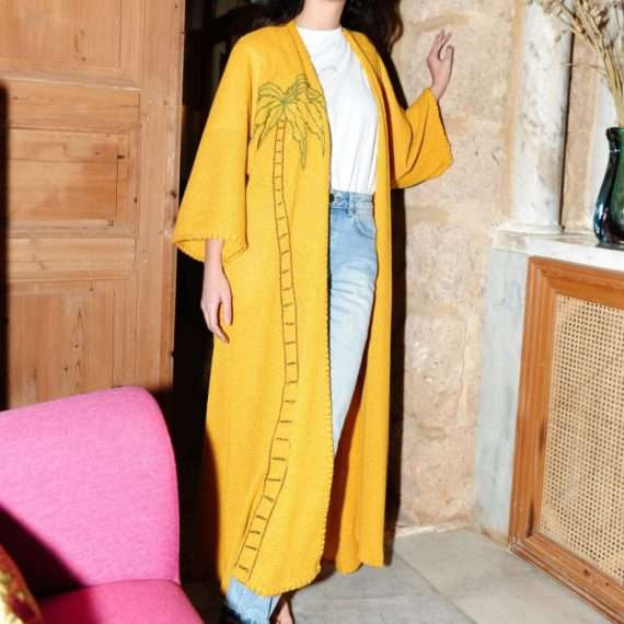 Palm-yellow-long-abaya