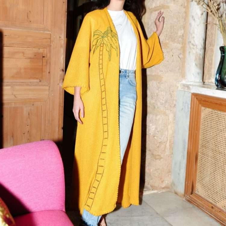 Palm-yellow-long-abaya